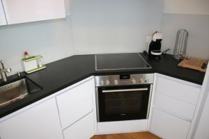 A kitchen or kitchenette at Ski Heaven LUXE & CENTER apartments