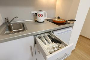 A kitchen or kitchenette at LASPACE PRIMA Apartments
