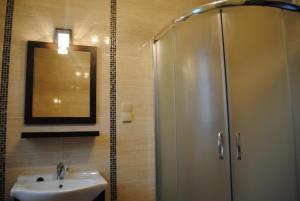A bathroom at Domki Nad Jeziorem