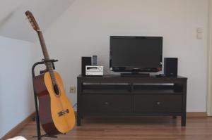 TV/Unterhaltungsangebot in der Unterkunft Ferienwohnung Seefrieden