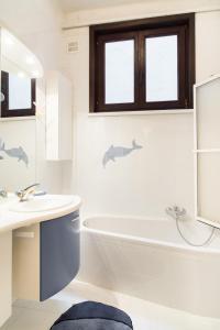 Een badkamer bij Residentie Kursaal