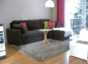 A seating area at Hanna Apartment