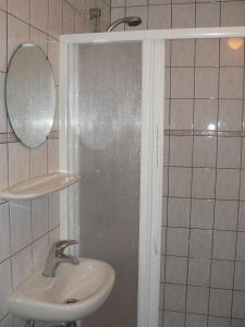 Salle de bains dans l'établissement Studio de Aankomst