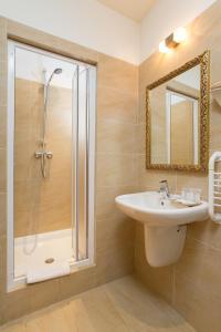 A bathroom at Vlkova Palace