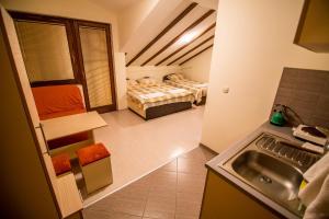 Кухня или кухненски бокс в Luccia Apartments - Ohrid City Centre