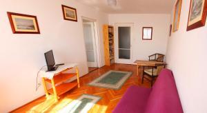 Óbuda Apartments tesisinde bir oturma alanı