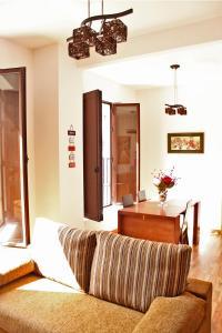 Cama o camas de una habitación en Apartamentos Casa de la Lonja