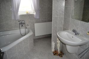 Koupelna v ubytování Apartmány u Petry