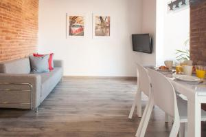 Coin salon dans l'établissement Poble Nou Design Apartment