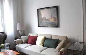 Coin salon dans l'établissement City Classic Apartment