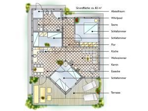 Grundriss der Unterkunft Feriendorf Klosterheide