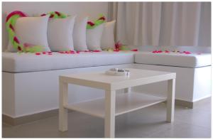 A seating area at Argiris Studios