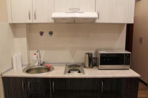 A kitchen or kitchenette at Rent Apartments Premium Class