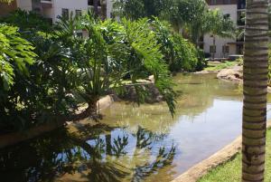 A garden outside Flat Life Resort