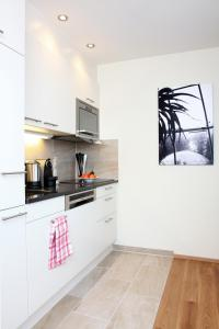 A kitchen or kitchenette at City Stay Furnished Apartments - Kieselgasse