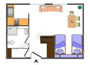 Grundriss der Unterkunft Apartment Danhauser