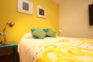 Cama o camas de una habitación en Apartamentos Inside Casa de la Alberca