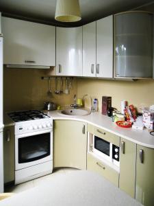 Кухня или мини-кухня в Chaykovsky Apartment KLIN