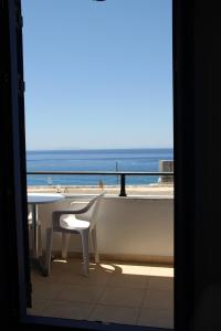 A balcony or terrace at Hotel Stavris