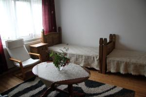 Ein Bett oder Betten in einem Zimmer der Unterkunft Apartment in Chemnitz, Ebersdorfer Wald
