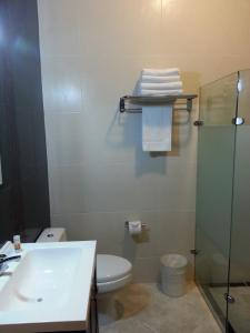 A bathroom at Hotel y Suites Los Encantos