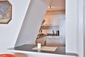 Küche/Küchenzeile in der Unterkunft Apartments Friederike
