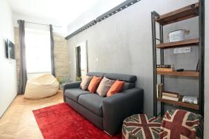 Χώρος καθιστικού στο The Apartment House Opatovicka