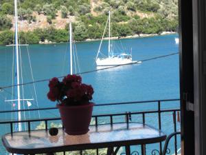 A balcony or terrace at Galini Studios
