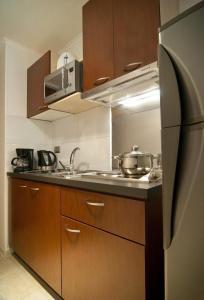Una cocina o zona de cocina en Park Plaza Apart Hotel