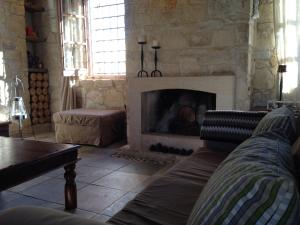 A seating area at Lofou Traditional Stone House