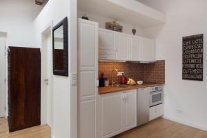 A kitchen or kitchenette at Apartment Soukenicka