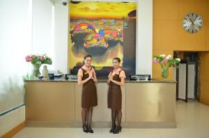 Members of staff at Abloom Exclusive Serviced Apartments