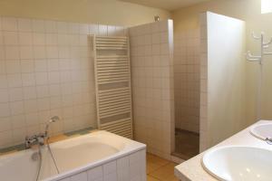 A bathroom at Vakwerkvakantiehuis Eckelmus