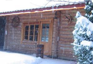 Brīvdienu māja Mētriņi during the winter