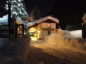 Campodolcino Camping im Winter