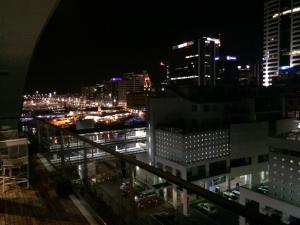 A general view of Auckland or a view of the city taken from the apartment