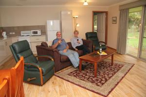 A seating area at Camawald Coonawarra Cottage B&B