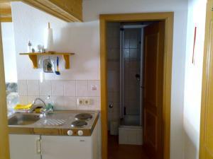 Küche/Küchenzeile in der Unterkunft Familienferienhof Sell´s Scheune