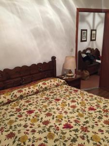 Cama ou camas em um quarto em Appartamento Edelwais