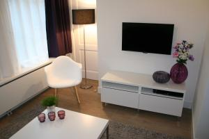 A television and/or entertainment center at Rosies Place