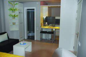 A television and/or entertainment center at Chanovi apartments