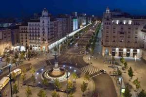 A bird's-eye view of Apartamentos Plaza España Deluxe