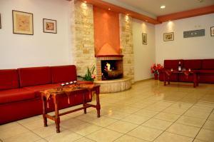 O zonă de relaxare la Haris Apartments
