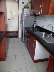 Una cocina o zona de cocina en Kuizi departamento Manuel Montt