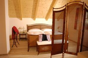 Ein Bett oder Betten in einem Zimmer der Unterkunft Ferienhaus Lenzenbauer