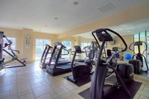 The fitness center and/or fitness facilities at 50 Laurier Apartments by Corporate Stays