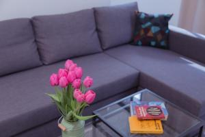 A seating area at Shenkin Vilmar Apartments
