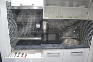 Kuchyň nebo kuchyňský kout v ubytování Apartmány Šariš