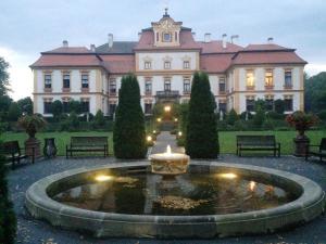 The swimming pool at or near Zámek Jemniště