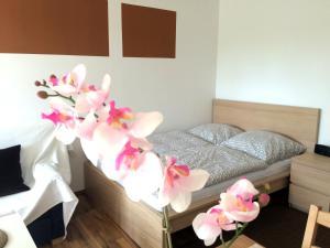 Postel nebo postele na pokoji v ubytování Apartment Sunshine